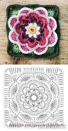Transcendent Crochet a Solid Granny Square Ideas. Inconceivable Crochet a Solid Granny Square Ideas. Motifs Granny Square, Granny Square Crochet Pattern, Crochet Blocks, Crochet Diagram, Crochet Chart, Crochet Squares, Crochet Granny, Granny Squares, Flower Granny Square