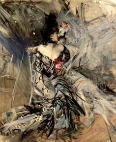 Spanish Dancer at the Moulin Rouge by Giovanni Boldini,  oil on canvas, 49 x 40, 1905.