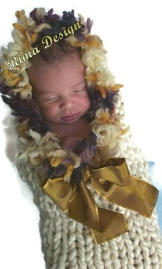 Baby newborn Eskimo to 3 months boy cocoon wrap mantle present gift photography props cream dupioni silk made with love in Canada - pinned by pin4etsy.com