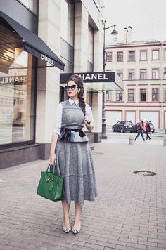 Уличная мода: Лучшие образы из модных блогов за неделю: Вита Ковалева, Sheryl Luke, Kayla Seah и другие