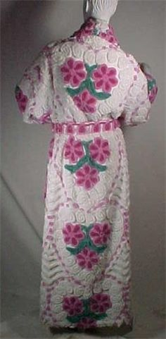 www.chenilleheaven.com  Their robes are handmade from vintage chenille bedspreads from the 1940's and 50's. So cool!