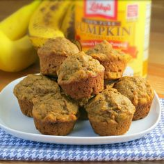 Pumpkin Banana Muffins - an easy and healthy breakfast treat with a Fall twist.