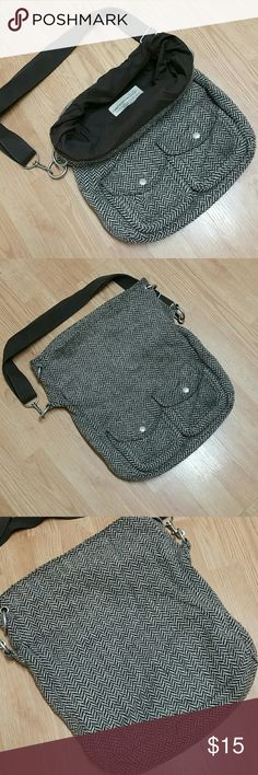 Aeropostatle role top crossbody Herringbone pattern role top cross body bag. Has seen a bit of use but still has a lot of life and style to offer.  Some back pilling, a few pulls and one small make on bottom corner. Bags Crossbody Bags