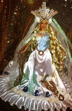 Calypso Greek Goddess of the Sea ~ Barbie doll OOAK Ocean Beauty Mythology 239.99
