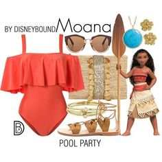 DisneyBound is meant to be inspiration for you to pull together your own outfits which work for your body and wallet whether from your closet or local mall. As to Disney artwork/properties: ©Disney Moana Outfits, Disney Bound Outfits, Disney Inspired Outfits, Disney Dresses, Disney Style, Disney Clothes, Pool Party Outfits, Summer Outfits, Cute Outfits