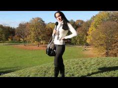 Video of Munich Autumn/Winter Fashion Look with white sweater and boots - Park in Munich/München - Germany/Deutschland - bue sky (GERMAN LANGUAGE / DEUTSCH)