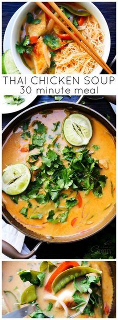 30 Minute Thai Chicken Soup
