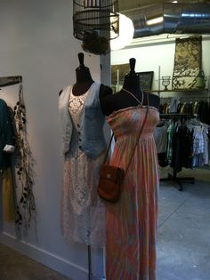 Tie dye maxi and lace midi Store Mannequins, Tie Dye Maxi, Lace, Racing