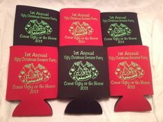 Christmas Party Favor koozie personalized by odysseycustomdesigns, $39.99