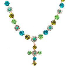 Mariana Jewelry Cross Necklace N3174/1-1310RG Angelica Collection  Swarovski Crystal Jewelry- Made in Israel