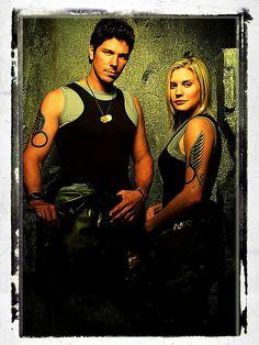 Anders and Starbuck - Battlestar Galactica