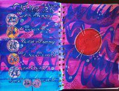 Week 26 Planner pages using Derwent Inktense blocks like watercolors!