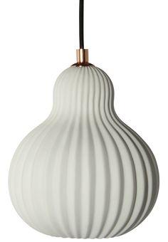 Pendel i plisseret porcelæn