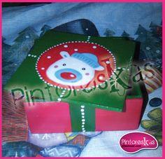 Caja en MDF / Navidad Oso