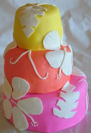Image result for TROPICAL FLOWER CAKE