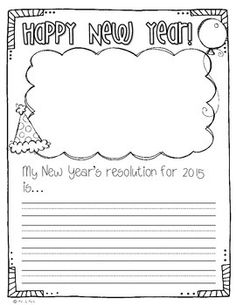 new years writing activities for kindergarten