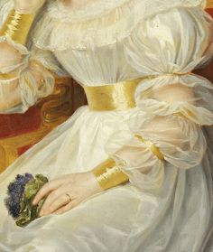 Portrait of a young lady, Detail. by Louis Hersent, (1830)