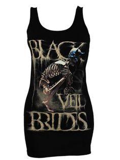 Black Veil Brides Dust Mask Ladies Black Vest