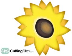 Sunflower - free SVG Cutting file!