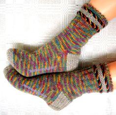 Angora wool socks Hand knitted socks from от MittensSocksShop