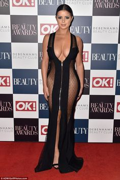 Hourglass: Demi Rose looked jaw-dropping in a see-through dress on Thursday night as she turned out for the OK! beauty awards