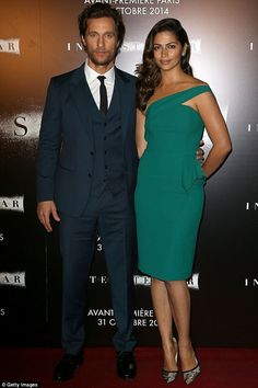 Matthew McConaughey and wife Camila Alves - At the premiere of his new film 'Interstellar' in Paris. (October 31, 2014)