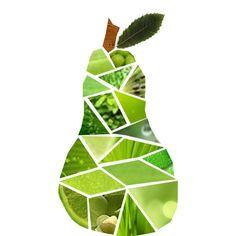 Kies 1 vorm, bijvoorbeeld een appel of een peer. teken de vorm op het papier. Zoek in een tijdschrift afbeeldingen met de juiste kleuren. Knip of scheur deze op maat en plak ze in je getekende vorm.