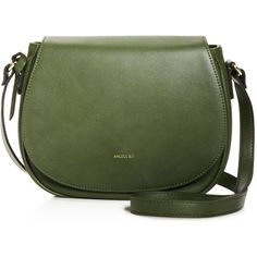 Angela Roi Morning Crossbody found on Polyvore featuring bags, handbags, shoulder bags, vegan leather handbags, cross body, faux leather crossbody purse, green handbags and crossbody purse