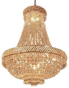 French Empire Crystal Chandelier Chandeliers Lighting H34 X W27 Traditional