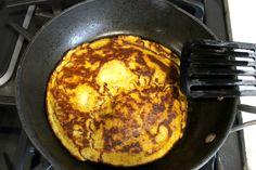 Three ingredient pumpkin paleo pancake skillet