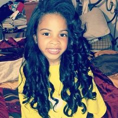 This is why I am never perming my child's hair.....why would you ever put a relaxer on such a beautiful little lady?!