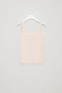 COS image 3 of Square-neck vest top in Sand