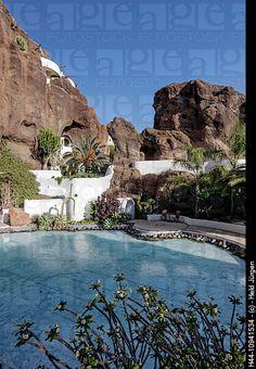 Casa of Omar Sharif, LagOmar, Architect Cesar Manrique, Pool, Lanzarote, Canary Islands, Spain