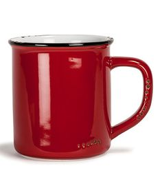 Crafted from solid and durable stoneware, this mug is sure to be a long-lasting a reliable addition to your kitchen sets. A deep red finish lends the piece some extra bright charm. Host Gifts, Kitchenware, Tableware, Kitchen Sets, 4 H, Xmas Crafts, Stoneware, Color Pop, Enamel