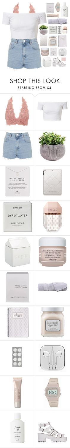 """THE BALLAD OF ME AND MY BRAIN // THE 1975"" by alkalicaroline ❤ liked on Polyvore featuring Charlotte Russe, Topshop, Dogeared, Marc by Marc Jacobs, Byredo, STELLA McCARTNEY, BIA Cordon Bleu, Sisley Paris, Ex Voto Paris and Hamam"