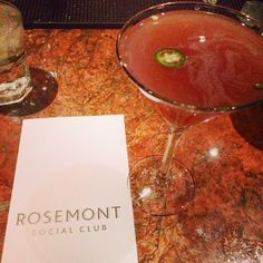 Spicy and sweet! Shaking up #strawberry, jalapeño and #byejoe dragon fire at #RosemontSocialClub
