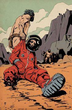 "andrew-ritchie: "" New piece "" Underground Comics, Comic Books Art, Comic Art, Science Fiction Kunst, Futurism Art, Best Short Stories, Bear Art, Retro Aesthetic, Sci Fi Art"