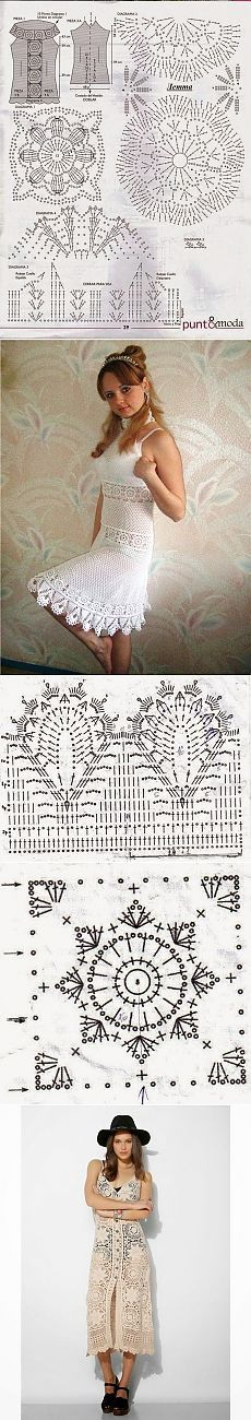 Crochet Irish & amp;: Vestidos