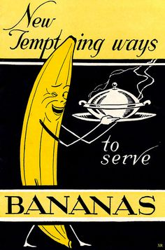 New tempting ways to serve bananas! #vintage #1930s #food #recipes