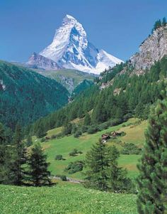 Switzerland--If I could live here, or visit every summer, I think I would live in a dream come true!