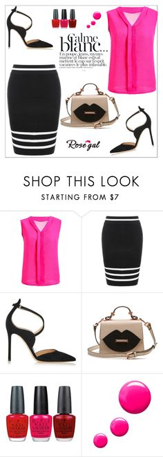 """Stylish"" by sabinakopic ❤ liked on Polyvore featuring Gianvito Rossi, Bensimon, OPI and Topshop"