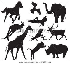 Kangaroo silhouettes Free vector for free download about (2) Free vector in ai, eps, cdr, svg format .