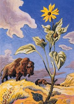 Thomas Hart Benton Paintings | ... and Sunflower by Thomas Hart Benton, ... | Art n Paintings(No