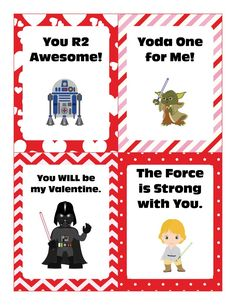 Star Wars Valentine Cards   The Jenny Evolution --- FREE Printables! Perfect for school.