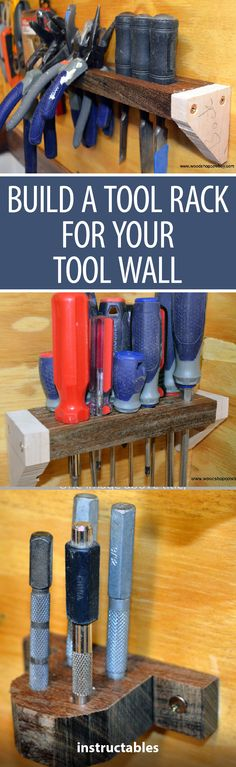 Build a Tool Rack for Your Tool Wall #woodworking #workshop #organization