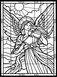 Welcome to Dover Publications     Amazing Angels Stained Glass Coloring Book