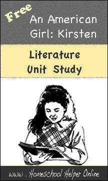 Homeschool Helper Online's Kirsten an American Girl Unit Study