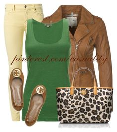 """""""Green & Leopard Combo"""" by casuality ❤ liked on Polyvore featuring Citizens of Humanity, MKT studio, Jigsaw and Tory Burch"""