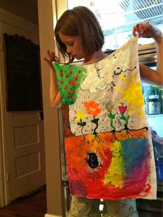 SUPER ME capes. Easy to make a bunch of blanks and let kids paint on what is important to them and what makes them super!