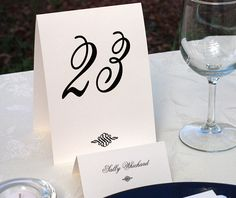 Sonja table number and place card are perfect for a #modern #wedding.  | Invitations by Ajalon | http://www.invitationsbyajalon.com/